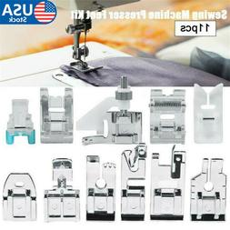 11pcs Presser Foot Feet for Brother Singer Home Sewing Machi