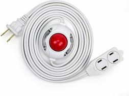 Electes 15 Feet 3 Outlet Extension Cord with Hand/Foot Switc