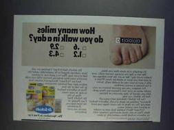 1980 Dr. Scholl's Foot Care Ad - How Many Miles
