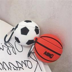 3D Basketball and Football Silicone Earphone Hook  For AirPo