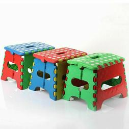 """7"""" Collapsible Folding Plastic Kitchen Step Foot Stool w/ Ha"""