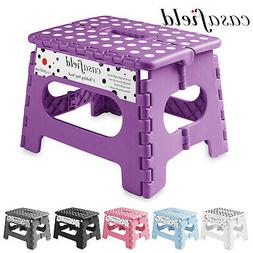 """9"""" Collapsible Folding Plastic Kitchen Step Foot Stool w/ Ha"""