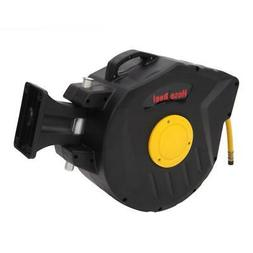 Air Hose Reel with Retractable 50 Foot Hose, 3/8 Inch ID, 18