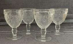 Beautiful Vintage Etched Footed Glassware