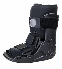 McKesson Black Walker Boot X-Small Hook and Loop for Either