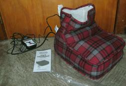 BRAND NEW DR. SCHOLL;S FOOT COMFORTER WITH HEAT ADULT SIZE F