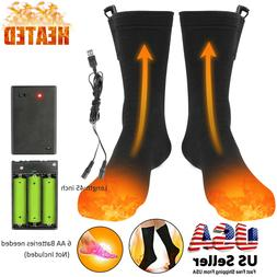 Electric Heated Socks Rechargeable Battery Foot Winter Warme
