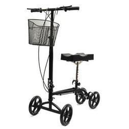 Foldable Steerable Knee Walker Aid Scooter for Foot Injury B