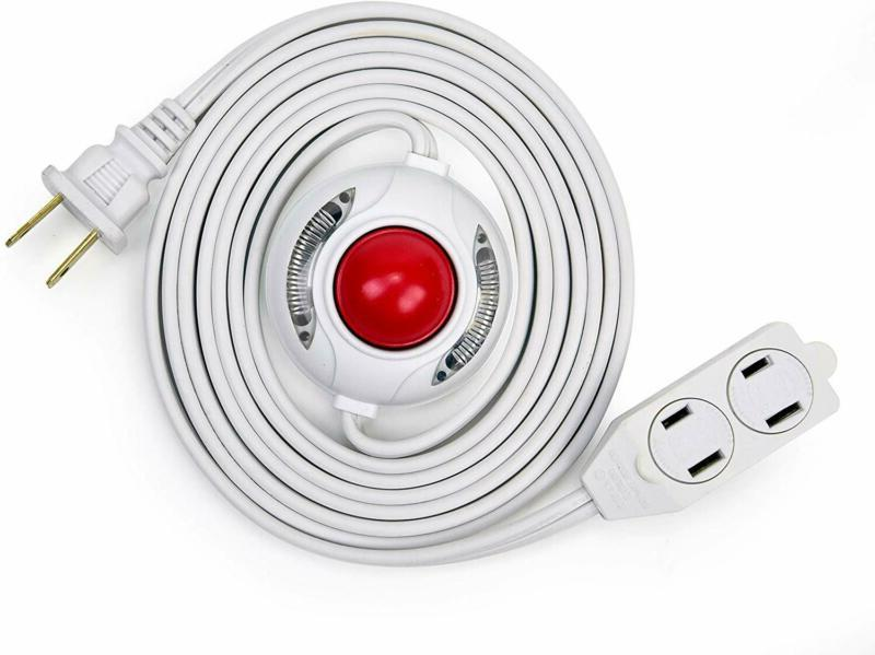 15 feet 3 outlet extension cord