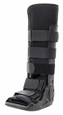 McKesson Black Walker Boot Large Hook and Loop for Either Fo