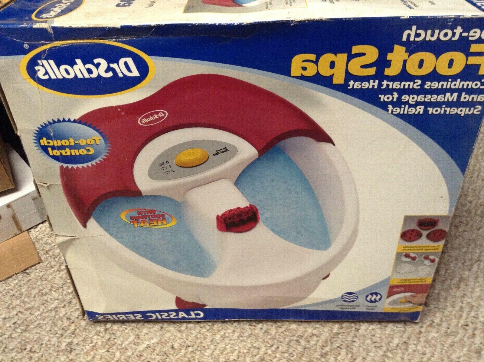 dr scholls toe touch foot spa red