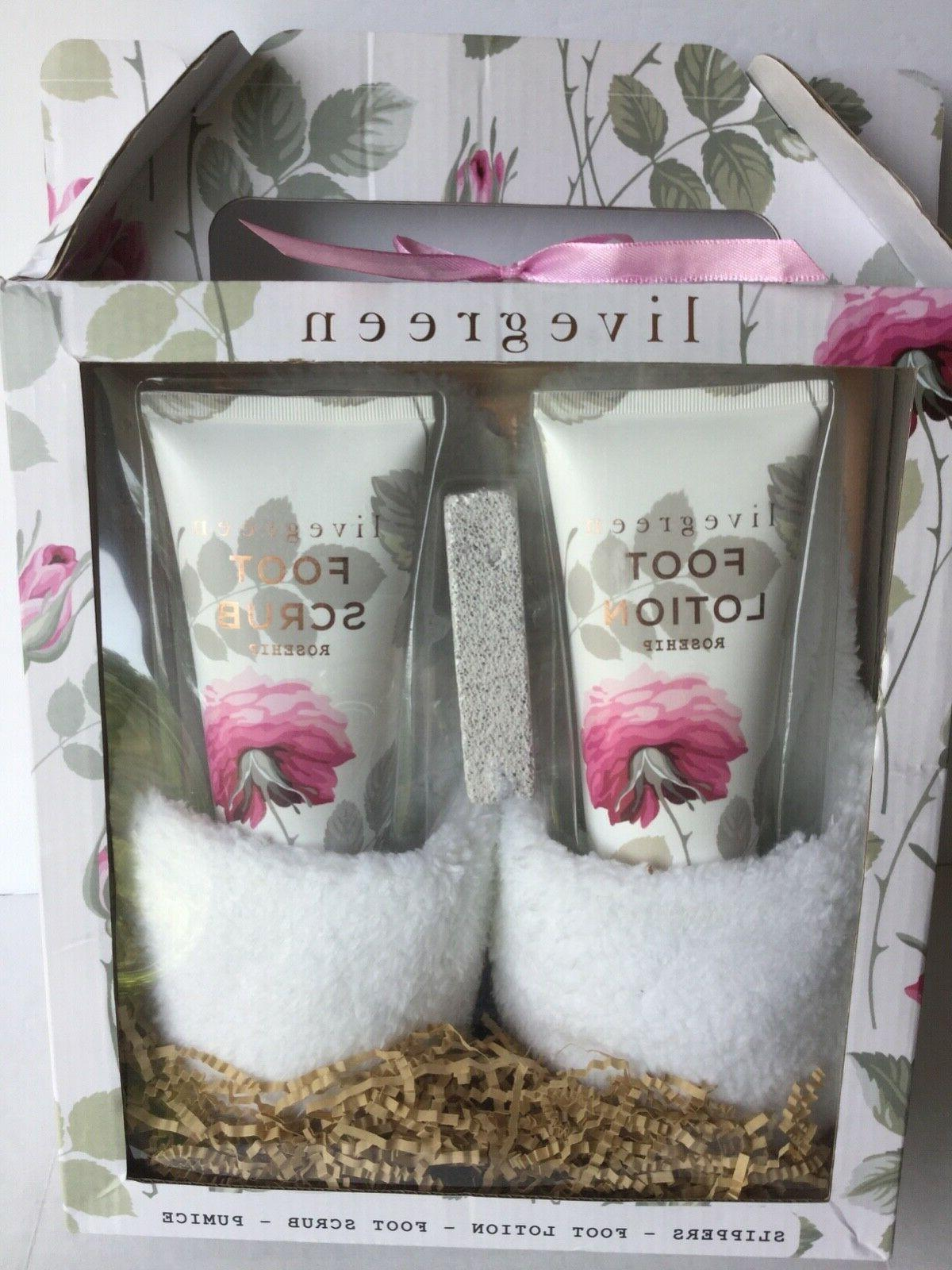 ladies 4piece gift set foot lotion foot