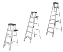 Louisville Commercial Aluminum Step Construction Tool Ladder