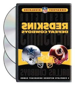NFL GREATEST RIVALRIES REDSKINS DEFEAT COWBOYS New Sealed 3